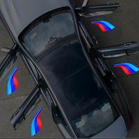 4pcs 자동차 로고 빛 BMW E90 E60 F10 F20 F25 E46 E36 F30 F36 E30 E34 BMW /// M Performance Ghost Shadow Light Car Door Light