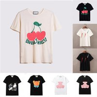 VERANO WOMENS MENS Designers T Shirts Tshirts Carta de moda Impresión de la impresión Manga corta Dama Tees Lujos Casual Ropa Tops T-shirts Ropa 21ss