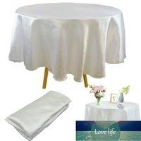 Redondo 145 cm Satén Mantel de la mesa de la mesa de la mesa de la tabla de la cubierta de la cubierta de la cubierta del restaurante del hogar Banquete de la Navidad Decoración de la mesa