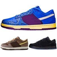 2021 릴리스 무패 덩크 남자 야외 신발 낮은 로얄 퍼플 화이트 캔틴 레몬 프 로스트 블루 브라운 블랙 SB 스포츠 스니커즈 원래 상자 크기 36-45