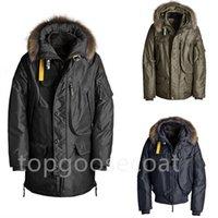 Top quality men's winter coat plus Large Parka coat plus hood Manto Trim fur down coat fashion warm jackets