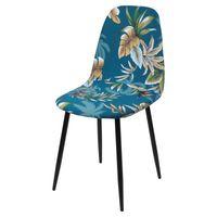Cubiertas de silla 1/2/4/6 PCS Cubierta de asiento impreso para Eames Diamond Diamond SHELL ARMING SHELL SHELLANT HOME EL INICIO EL SALIDA