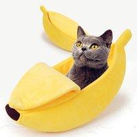 Cat Beds & Furniture Banana Bed House Cute Puppy Cushion Kennel Warm Soft Pet Bet Supplies Mat For Cats Kittens Shelf