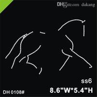 Новый продукт Бесплатная Доставка Лошадь Конные Исправления Хрусталь Rhinestone Утюг на футболку Motif DIY DH0108 #