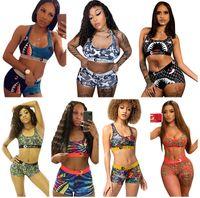 Frauen Ethika Designer Badeanzug 2 Stück Bikini Set Weste Tank Top BH Shorts Schwimmen Anzug Hai Swimwear Marke Beachwear