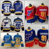St. Louis Blues Gelo Hóquei Retro Retro 91 Vladimir Tarasenko Jersey Inverno Clássico Esportes Equipe Navio Azul Vermelho Branco Bordado e Costura
