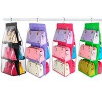 Saklama torbaları iyi aile organizatör sırt çantası çanta asılı ayakkabı çantası yüksek ev malzemeleri 6 cep dolap raf askıları