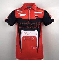 Moto GP Team Factory United Polo Рубашка с коротким рукавом Мотоцикл Джерси Футболка бездорожья Досуг Большой Размер Быстрые сушильные верхние настройки