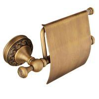 Antike Messingpapier Handtuch Rack Europe Stil Badezimmer WC Wolke Gewebehalter Zubehör
