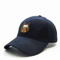 LDSLYJR coton cartoon coton broderie bouchon de baseball bouchon de hip-hop chapeaux de capuchon ajustable pour adulte et enfants 299