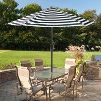 Shade 7.5Ft Patio Umbrella Outdoor Table Market Sunshade Garden With Push Button Tilt And Crank