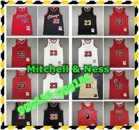 Vintage Mens Chicagoan 23 Mitchell Ness Swingman Jersey Otantik 33 Scottie Pippen Michael Dikişli Retro Basketbol Formaları Etiketler ile