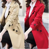Women's Trench Coats 6XL 2021 Spring Autumn Korean Windbreaker Female Large Size Long Section Chic A1525