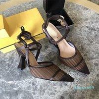 Lüks elbise ayakkabı rahat topuklu ve sandalet bir kutu ile İtalyan zanaat deri35-41High kalite 9898