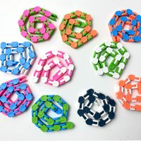 10 Colors Styles 24 Links Wacky Tracks Snake Puzzle Snap And Click Sensory Fidget Toys Anxiety Stress Relief ADHD Needs Educational Party Keeps Fingers Busy