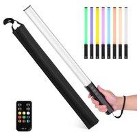 Flash Heads RGB Handheld LED Light Wand Rechargeable Pography Stick 10 Lighting Modes 12 Brightness Levels 1000 Lumens 3200-5600K