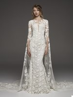 Princess Mermaid Wedding Dresses Lace Appliques O Neck Long Sleeves Bridal Gowns Floor Length Vintage Marriage Robe De Mariée