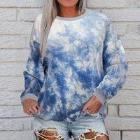 Women's Hoodies & Sweatshirts @ Autumn Winter Thick Warm Coat 2021 Hoodie 3d Printedtie-dye Tops Star Print Pullvoer Long Sleeve Shirt