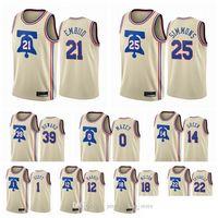2020 2021 Großhandel Billig Herren Joel Embiid Ben Simmons Tyrese Maxey Verdienste Edition Creme Custom Custom gedruckt Basketball Jersey