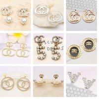 Luxury Designer Brand Trendy Ear Stud Earring 925 Silver White Crystal Pearl Party Women Earrings Wedding Lovers Gift Engagement Jewelry ER0121-140