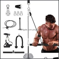 Aessories Equipments Supplies Sports & Outdoors5 Set Home Diy Fitness Pley Rope System Tool Kit Loading Pin Lifting Arm Biceps Triceps Hand