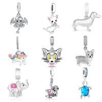 925 zilveren kralen fit Originele bedelarmband Leuke dieren Tortois Cat Puppy Monkey Unicorn Beads voor Unisex Valentine Gift