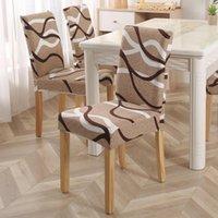 Stretch gestreifte gedruckte elastische Stuhlabdeckungen Spandex für Hochzeit Esszimmer Büro Bonquad Housse de chaise Stuhlabdeckung