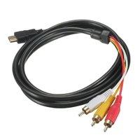 Musmattor Handledsstöd Guldpläterade kontakter 5 fot 1,5m 1080p HDTV Man till 3 RCA Audio Video AV-kabelnätare för signalöverföring