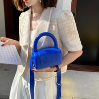 Evening Bags Mini PU Leather Top Handle Crossbody With Short For Women 2021 Summer Fashion Trends Purses And Handbags