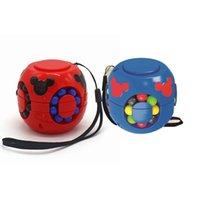 Little Magic Bean Fingertip الغزل الأعلى روبيك مكعب اللعب فنجر الغزل الأعلى الأطفال الضغط التعليمية الإبداعية ألعاب GWF5604