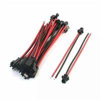 5-100 Pairs JST SM Bağlayıcı 2pin / 3pin / 4pin 5pin Erkek ve Kadın Set 2 3 4 5 Pin Tel Kablo Pigtail Fiş LED Şerit