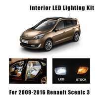 17pcs 화이트 오류 무료 자동차 Led 전구 읽기 돔지도 트렁크 도어 라이트 인테리어 키트 2009-2016 Renault scenic 3 mk3