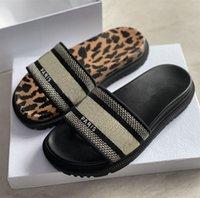 Mujeres Daway Slip Slippers Bordado Plataforma de algodón Sandalias Negro Azul Toile de JOUY Grueso Grueso Anatómico Sole Sole Flip Flops Casual Shoe