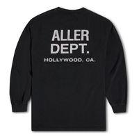 2021 USA Hollywood Souvenir Vintage T Shirts Skateboard Langarm Männer Frauen Straße Casual Tshirt