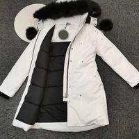2021 Женщины пуховик зимние пальто женские повседневные открытый канад большой меховой воротник воротник утолщение высокого качества ветрозащитный и теплая съемная шляпа верхняя одежда