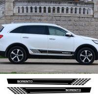 2 pz Auto Decor Side Syne Skirt Stripes Adesivi per auto Adesivi per Vinile Decalcomania per Kia Sorento Riflettente Auto impermeabile Accessori per il corpo