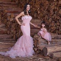 Applique Prom Party Dress robe de soirée Mermaid Evening Dress Sweetheart 2022 Mother Daughter Party Dresses