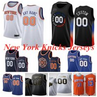 """نيويورك """"نيكس"""" كرة السلة جيرسي RJ 9 باريت دينيس 5 سميث 25 بولوك فرانك 11 ntilikina يوليوس 30 راند 4 روز جيرسي مخصص الرجال الاطفال الشباب S-3XL"""