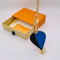 الهواء الساخن بالون المفاتيح مع مربع الرجال النساء أزياء مصمم الجلود الحلي محفظة لطيف الحقائب اليدوية سيارة مفتاح سلسلة قلادة مشبك