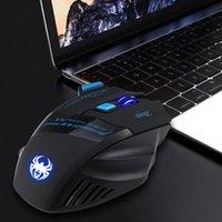 Zelotes F14 2400 DPI 7 Pulsanti a LED Mouse ottico Mouse wireless 2.4G Luci di respirazione del mouse wireless per PC Laptop