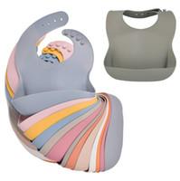 Младенческий силиконовый нагрудник BIB Baby Ribs Детские силиконовые натуральные нагрудника для ребенка слюны рисовые карманные материнские младенческие изделия WMQ619