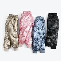 Trousers Winter Leggings For Toddler Girls Solid Down Cotton Windproof Snow Pants Kids Boys Thicken Warm Teenage Clothing 11 12Y