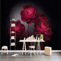 Wallpapers Dropship Custom Po Wallpaper Romantic Red Roses TV Backdrop Bedroom El Theme Restaurant Studio Mural