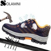 Scarpe in acciaio indistruttibili scarpe da lavoro stivali da lavoro scarpe da lavoro traspirante scarpe di sicurezza maschile leggero puntura proof sale safety stivali A99V #