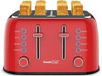 4- Slice Independent Temperature Control Toper Wide Slot, Shade Selector, Boost Toast, Automatyczne wyłączanie i Anuluj przycisk