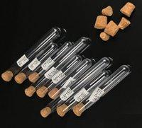 1000pcs tubo de ensaio de plástico com rolha de cortiça 7ml 10ml 12ml 15ml 20ml 25ml 30ml 50ml laborário supplie 20cc Clear plástico tubo cosmético sn2052