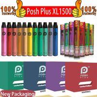 Posh plus xl Einweg-Vape-Gerät-Stift 1500puffs 650mAh-Power-Batterie Vorgefüllte Pods Dampf Einweg-E-Zigaretten