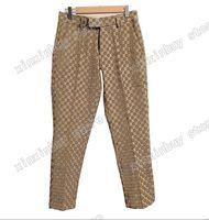 21SS Mens T Gömlek Pantolon Renk Jakarlı Mektup Erkekler Koşu Pantolon Rahat Slim Fit Tüm Vücut Harfleri Pantolon Düğün