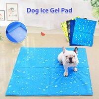 Kennels & Pens Dog Ice Gel Mat Summer Pet PVC Cooling Pad Pubby Heat Relief Soft Mattress Print Waterproof Cat Cushion Blanket Dogs Mats