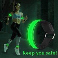 Bangle Led Bracelet Luminous Arm Band Night Run Cycling Dancing Outdoor Sports Equipment Warning Foot Ring Reflective Stripe